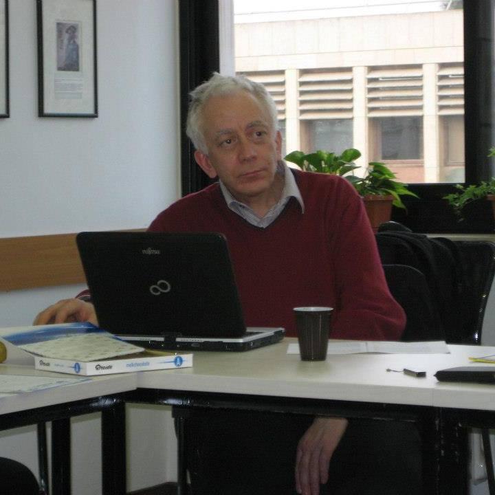 Giuseppe Veltri during a university seminar in 2015