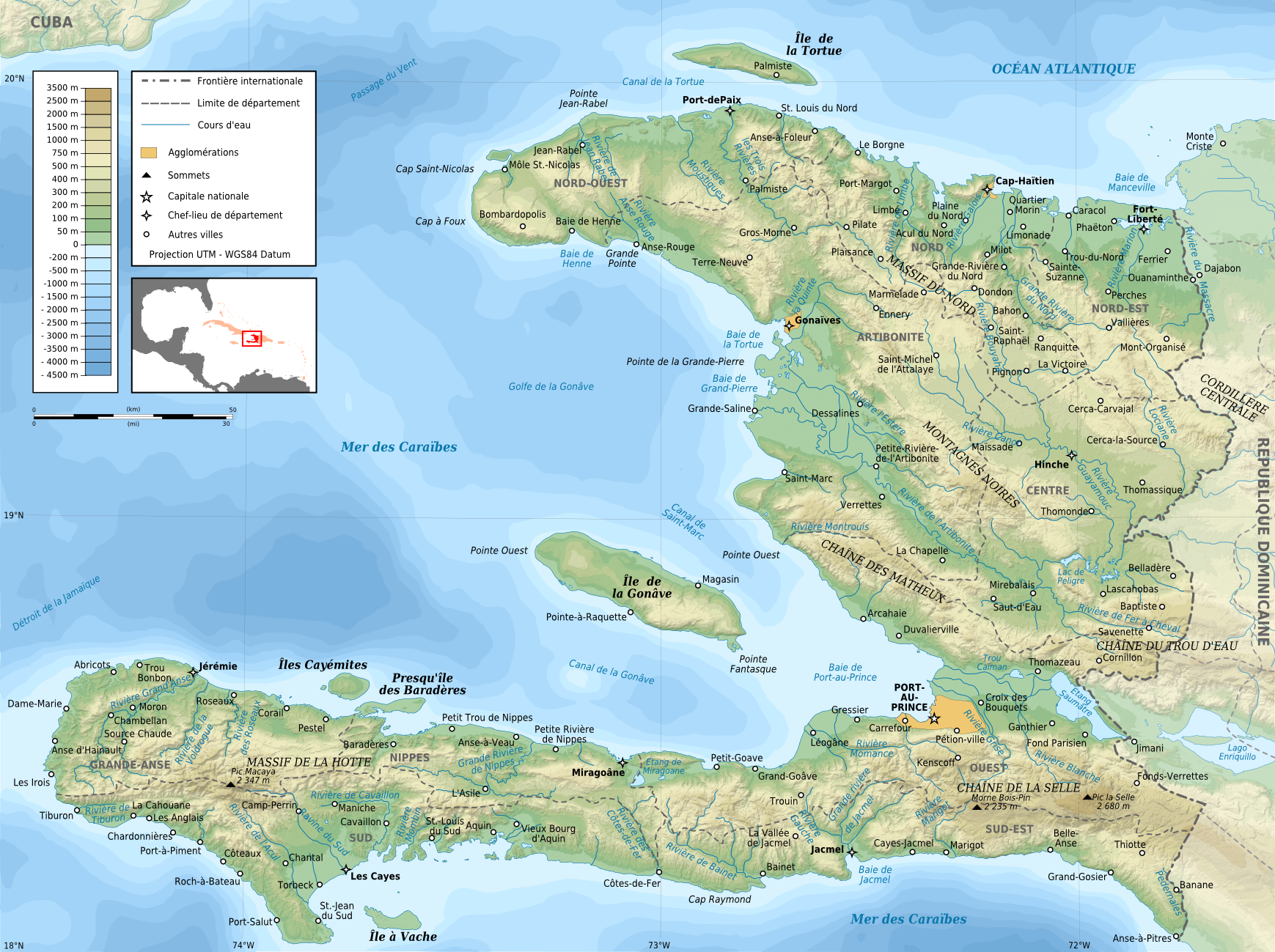 Atlas of haiti wikimedia commons haiti topographic map frg gumiabroncs Choice Image