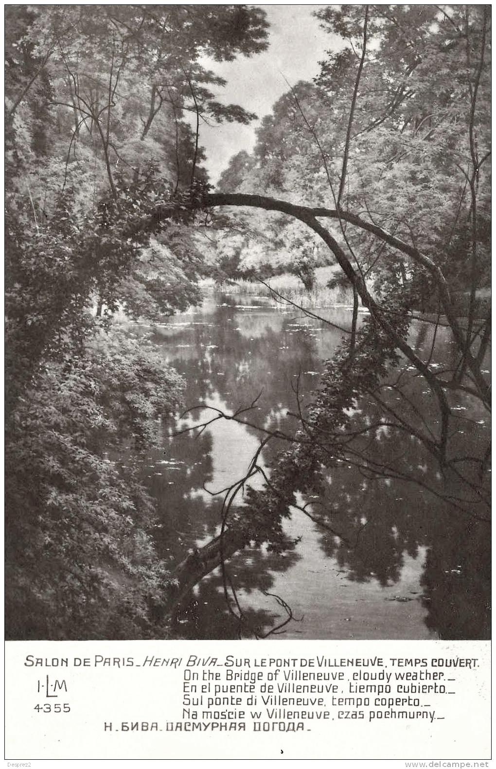 File henri biva sur le pont de villeneuve temps couvert for Salon de paris