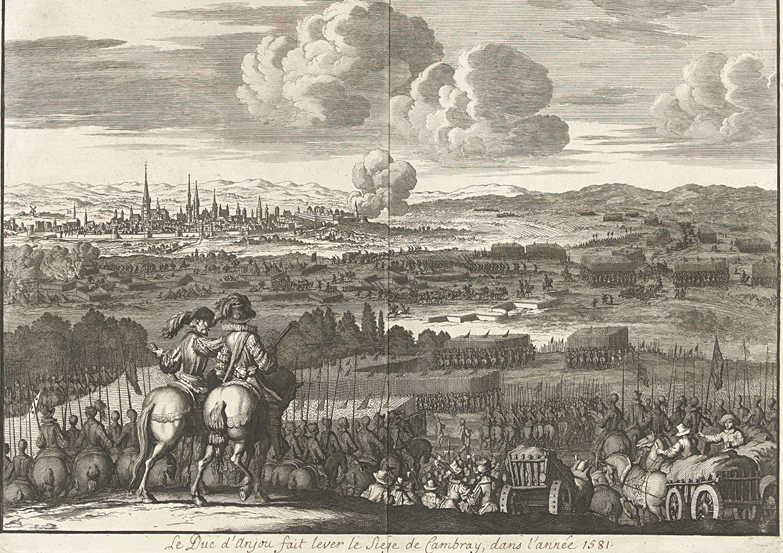 File:Het ontzet van Kamerijk door de hertog van Anjou, 1581, Jan Luyken