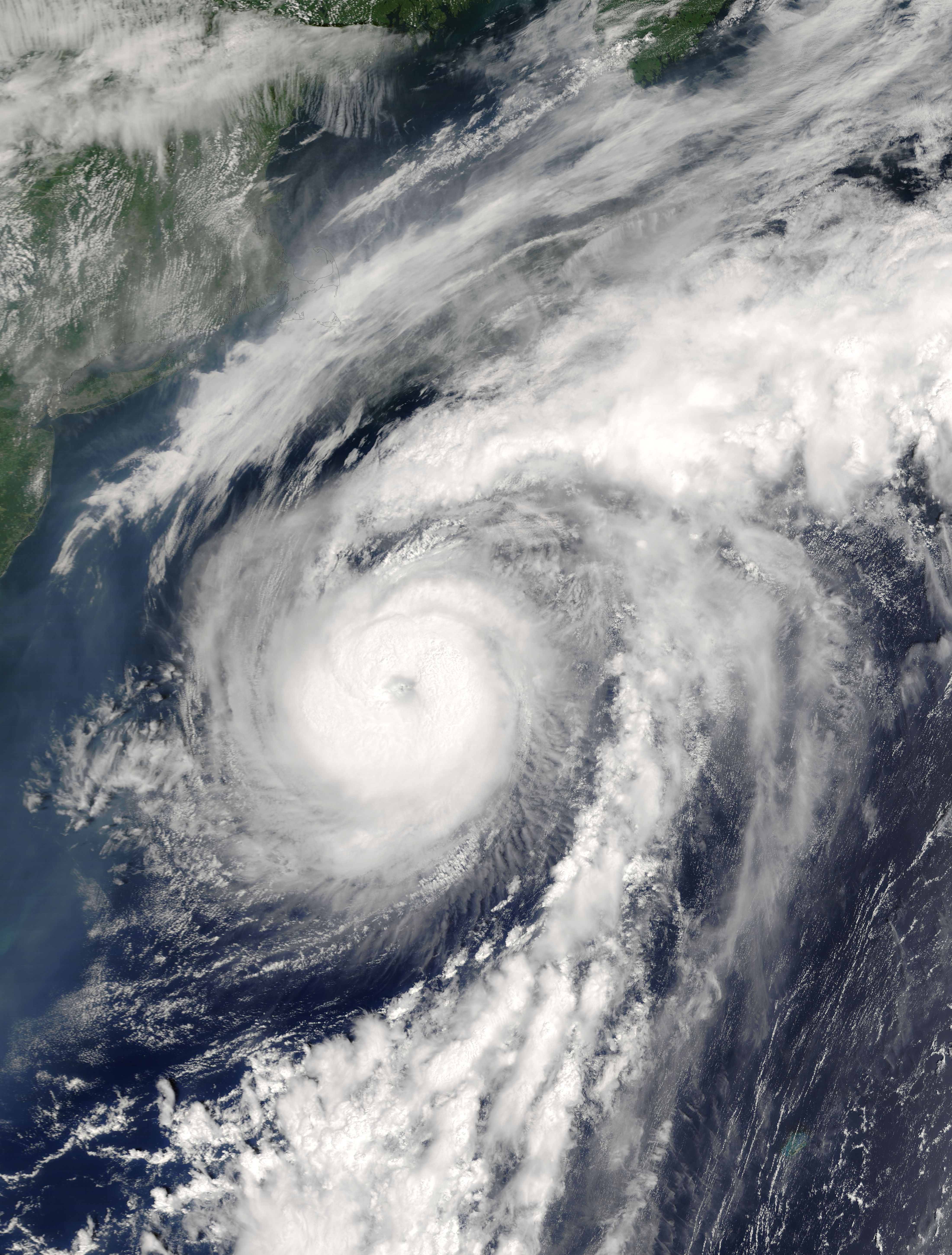 Hurricane Alex formed and moved along the axis of the Gulf Stream in 2004.