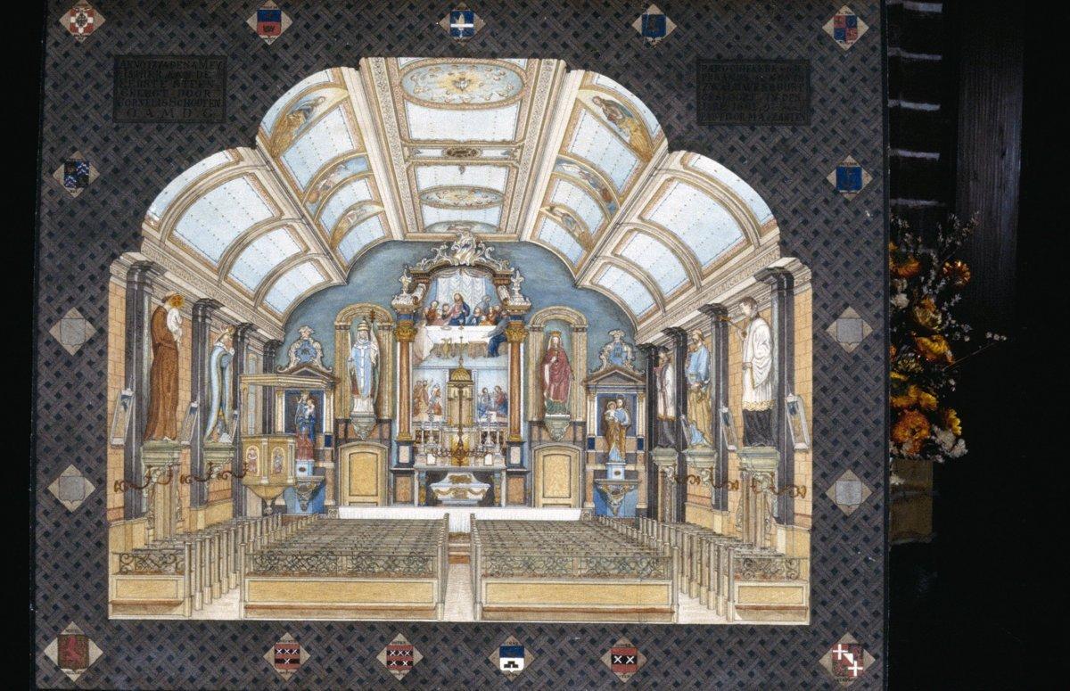 File interieur schilderij van het altaar voormalige - Makers van het interieur ...