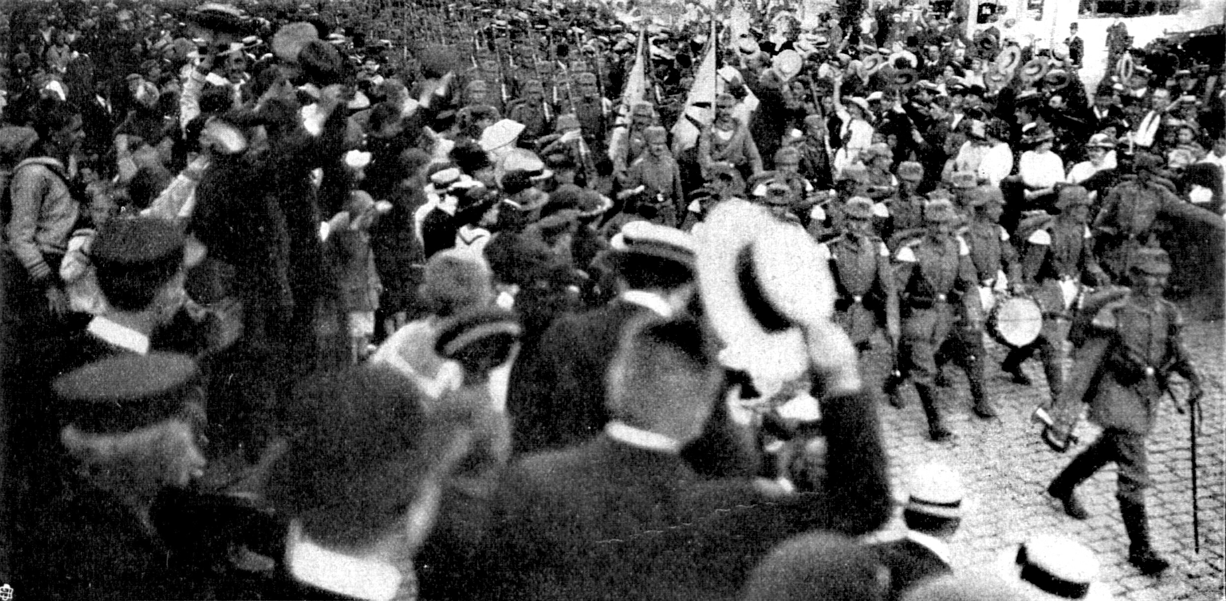 Abmarsch des Regiments Lübeck am 31.Juli 1914
