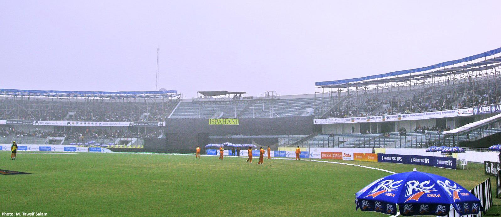 Description Ispahani End, Sher-e-Bangla Cricket Stadium.jpg