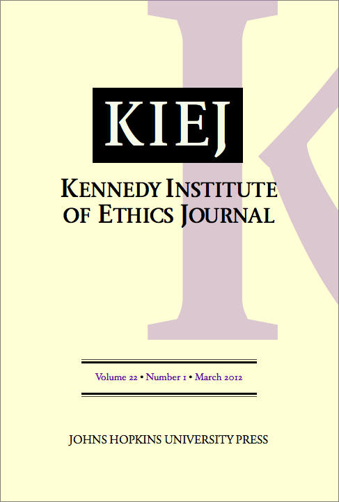 kennedy institute of ethics journal wikipedia