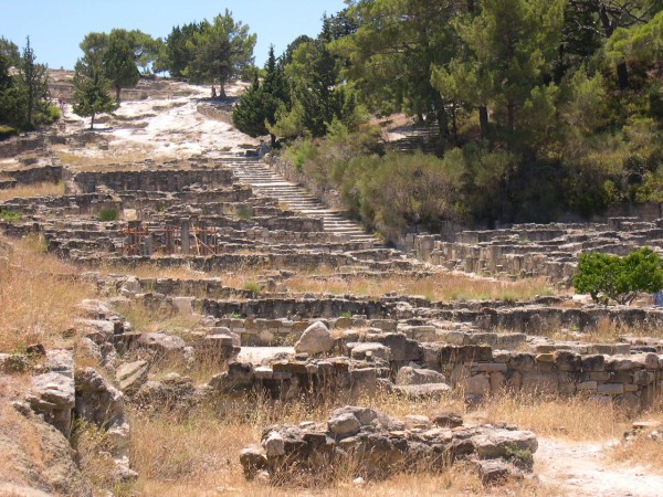 File:Kameiros, ruins of ancient Greek city - Rhodes ...