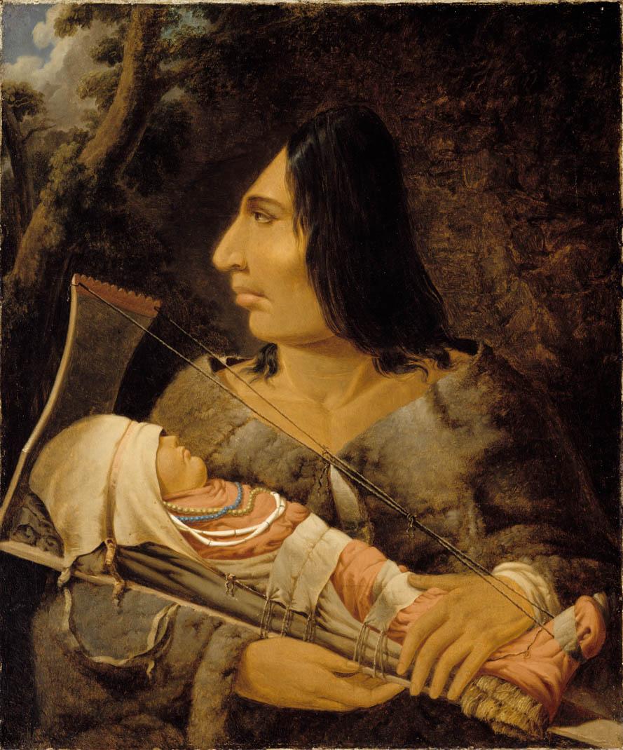 Chinook äidin muokattu kallo ja lapsen kallon muokkausta.