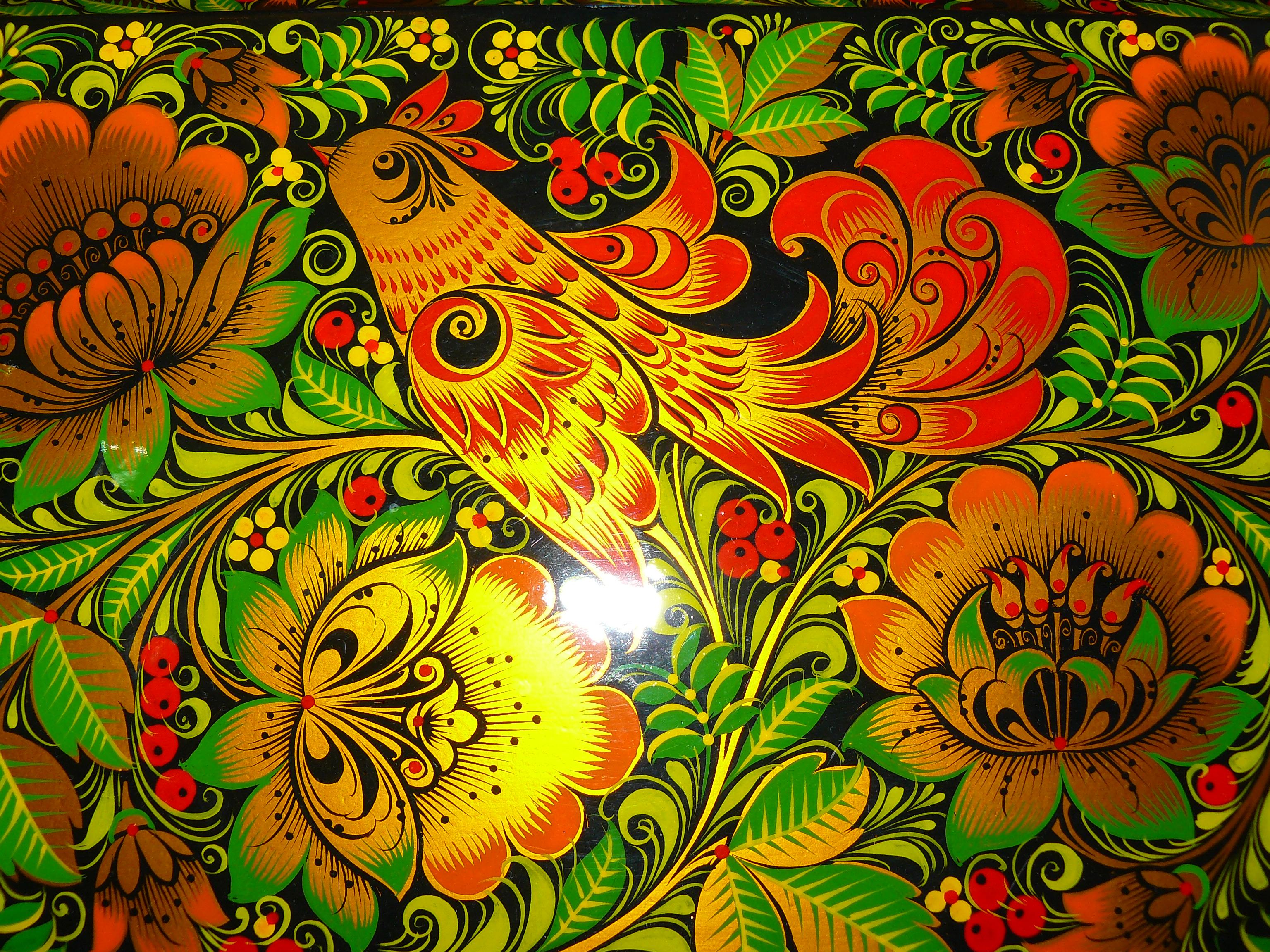 Птицы хохлома картинки