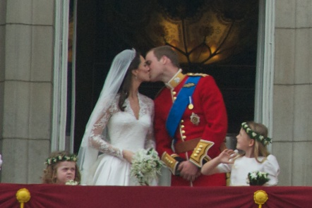 Kiss Wedding Prince William of Wales Kate Middleton