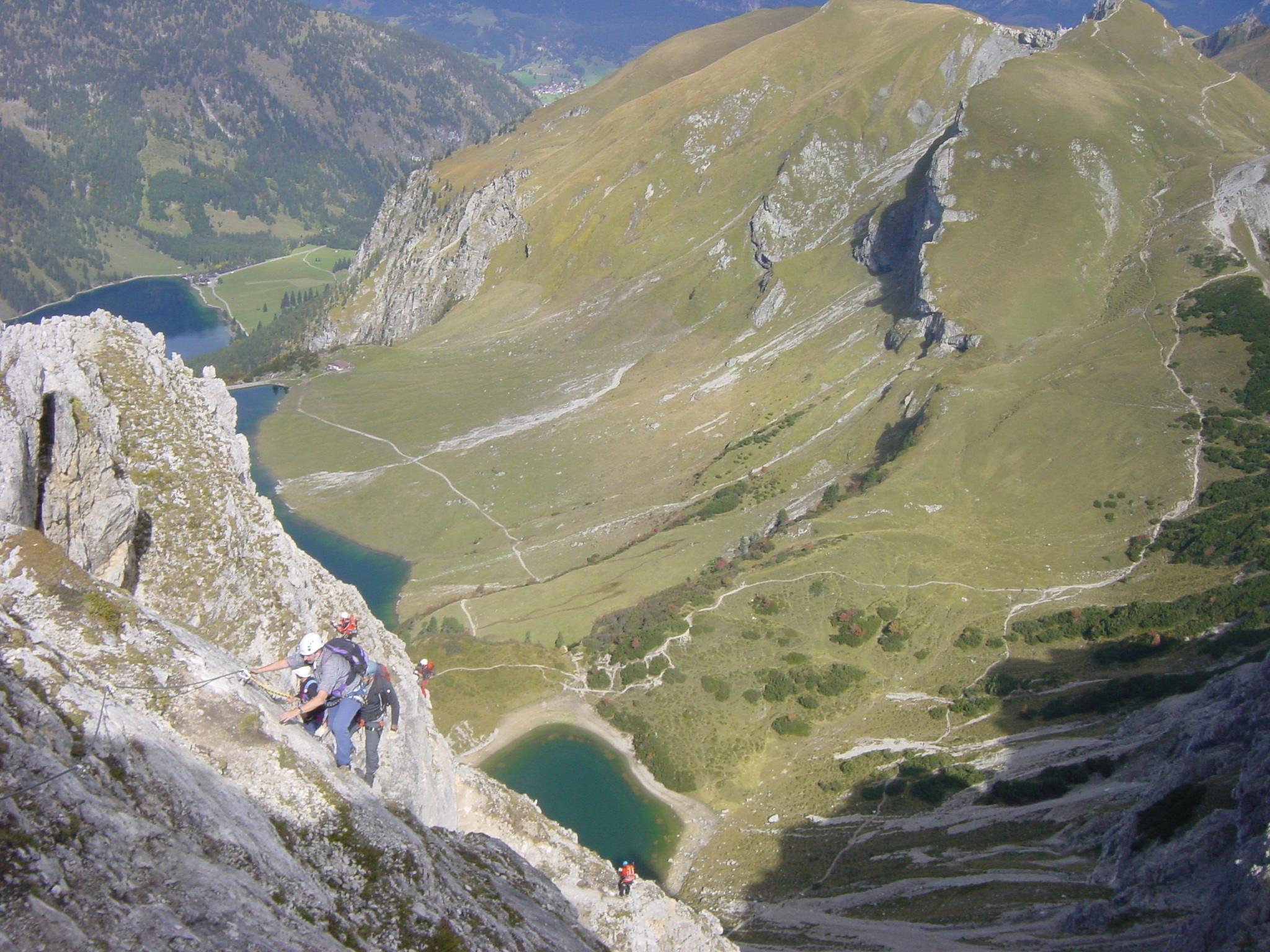 Klettersteig Lachenspitze Bilder : Klettersteig im tannheimer tal lachenspitze vom