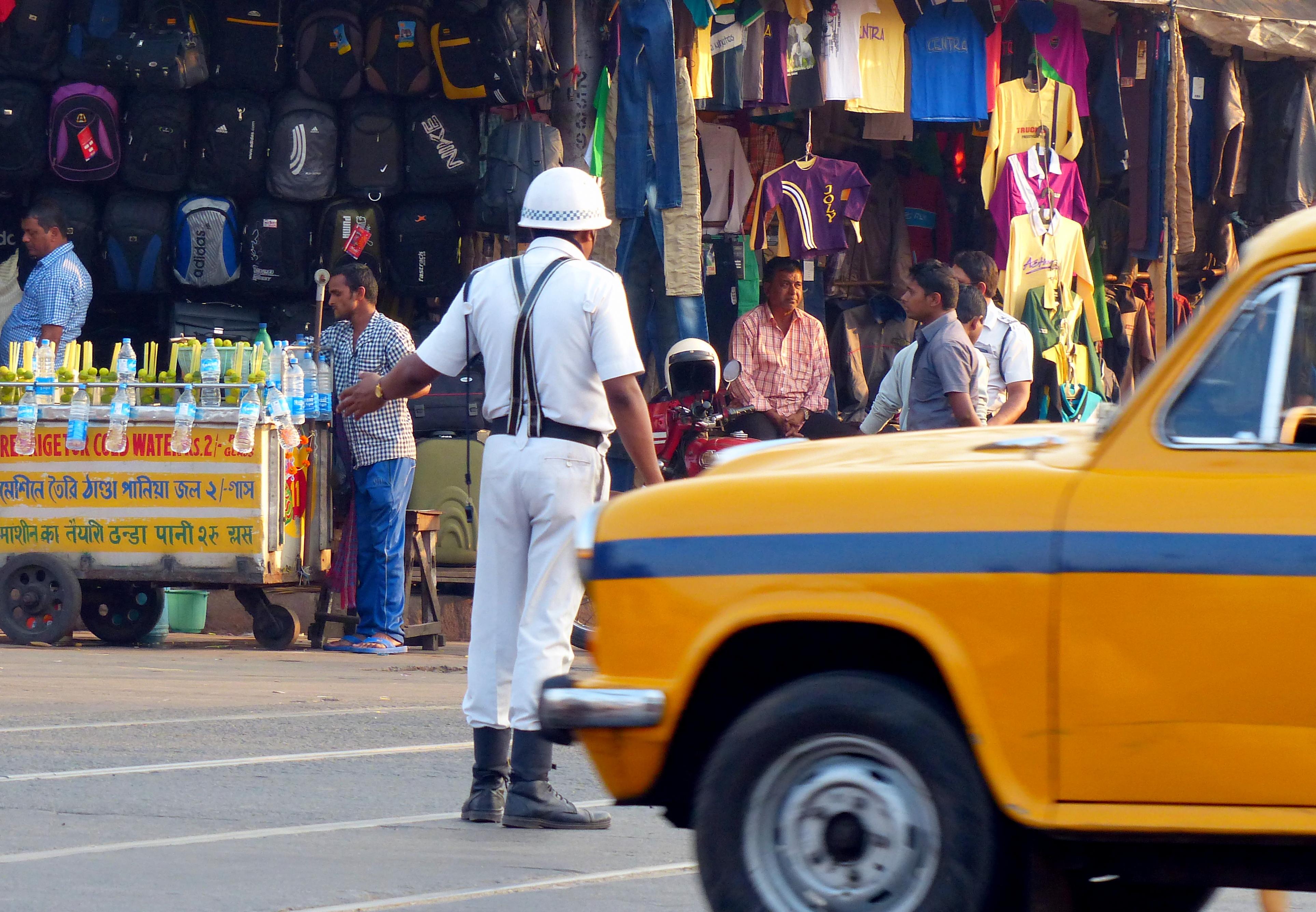 Kolkata Traffic Police Photos  Concave Image Upside Down