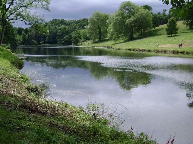 Lakeside walks, Higher Water, Ugbrooke Park - geograph.org.uk - 1364101