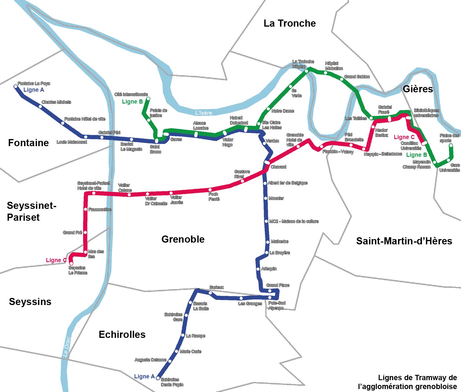 Plan tram bordeaux - Bus grenoble lyon ...