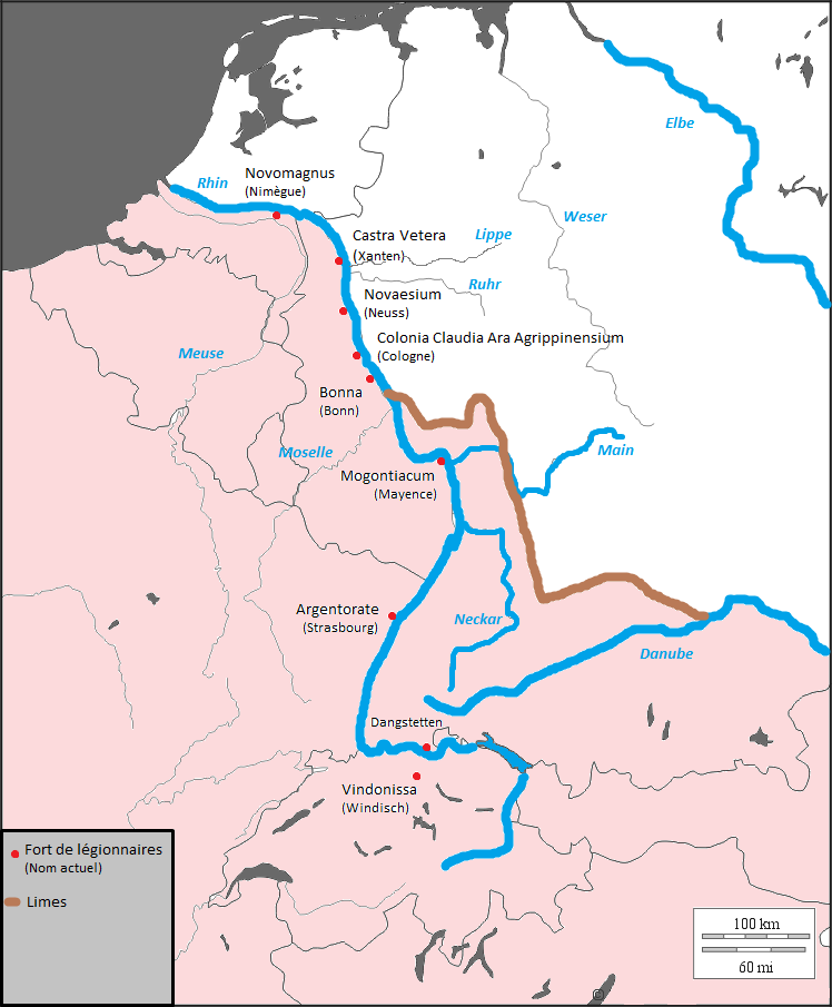 Fiume Elba Cartina Geografica.Limes Renano Wikipedia