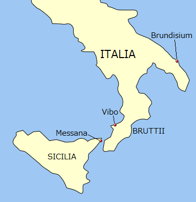 File Map Of South Italy For Caesar S Civil War In 48bc By Latin