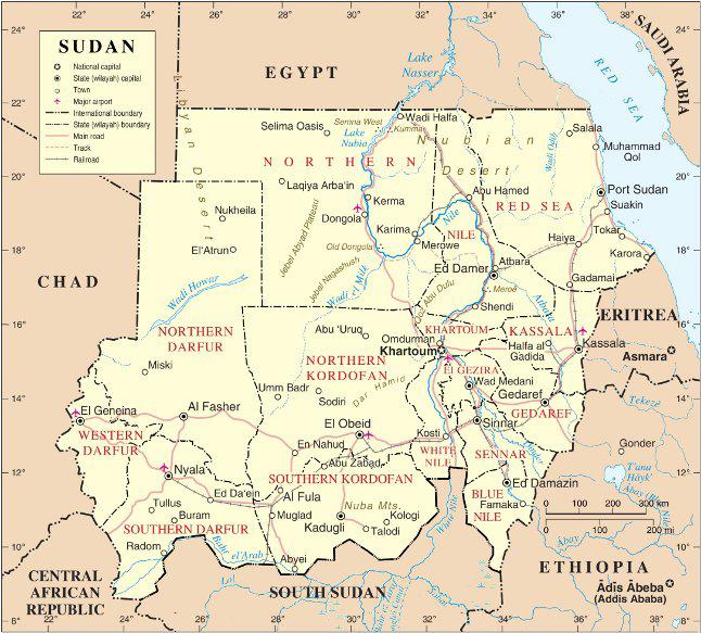 Mapa de Sudan (By Muhammad Daffa Rambe, via Wikimedia Commons)