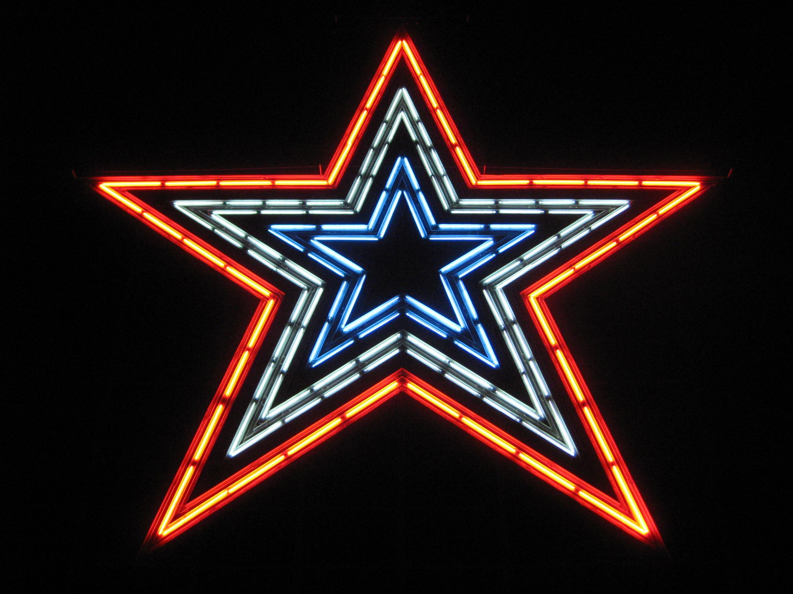 Ein Stern aus ''Neonlichtern''