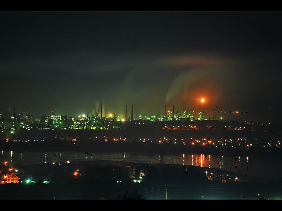 Die Lukoil Neftochim-Raffinerie bei Burgas