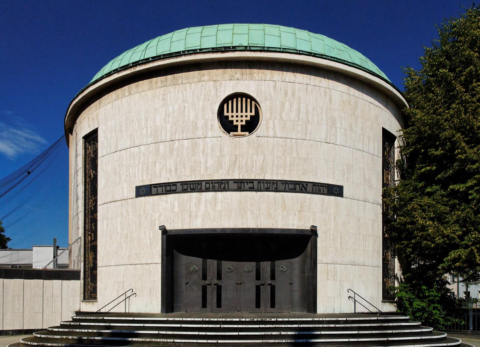 File Neue Synagoge In Duesseldorf Golzheim Von Suedwesten