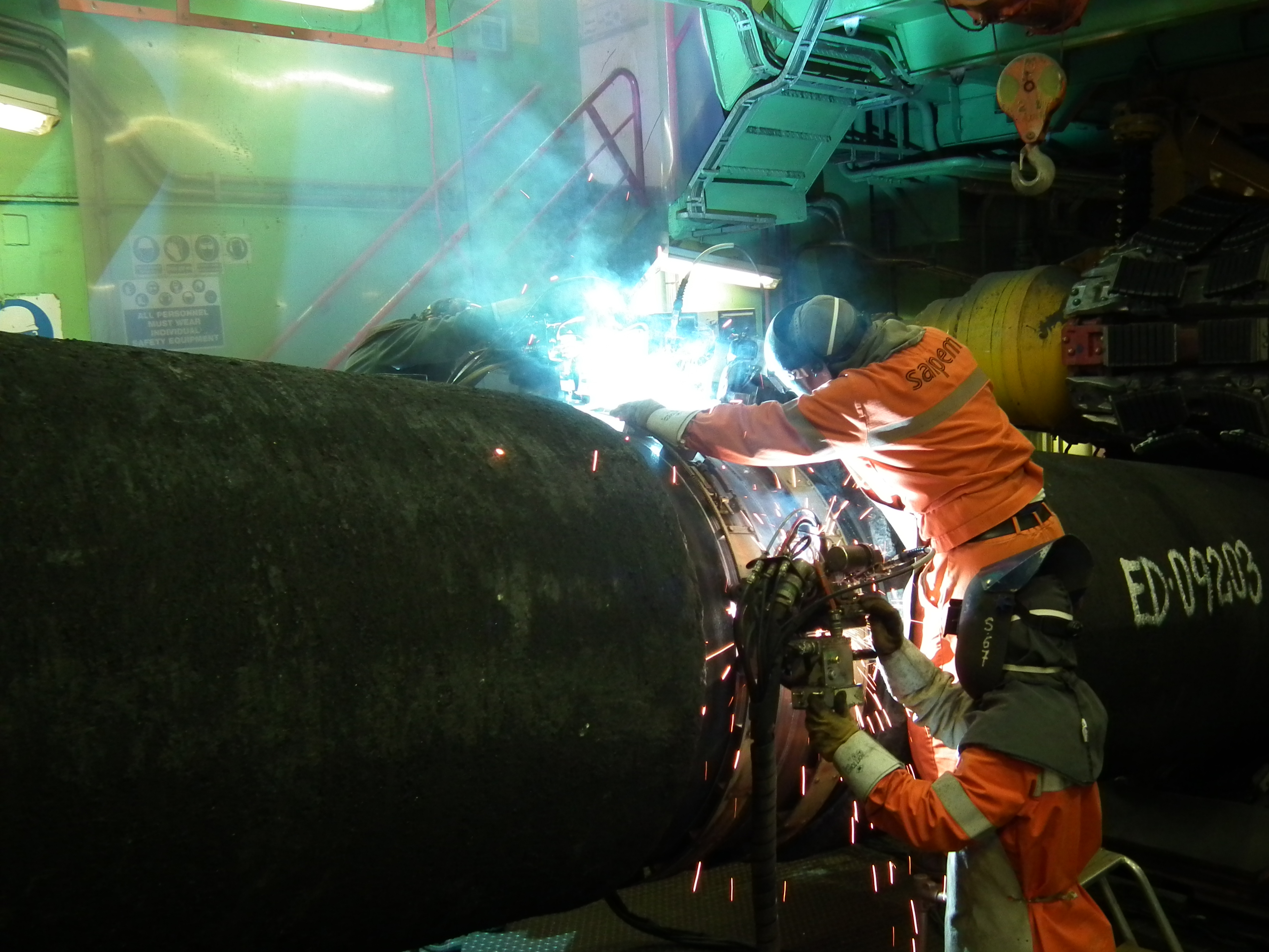 File:Nord Stream - two pipes are welded together on the ...