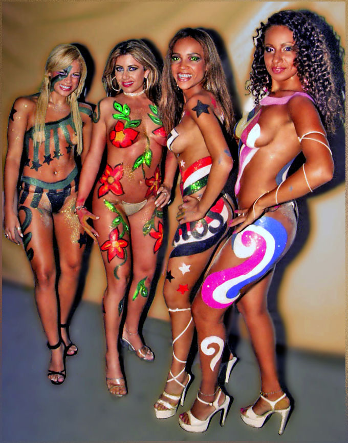 girl body painting