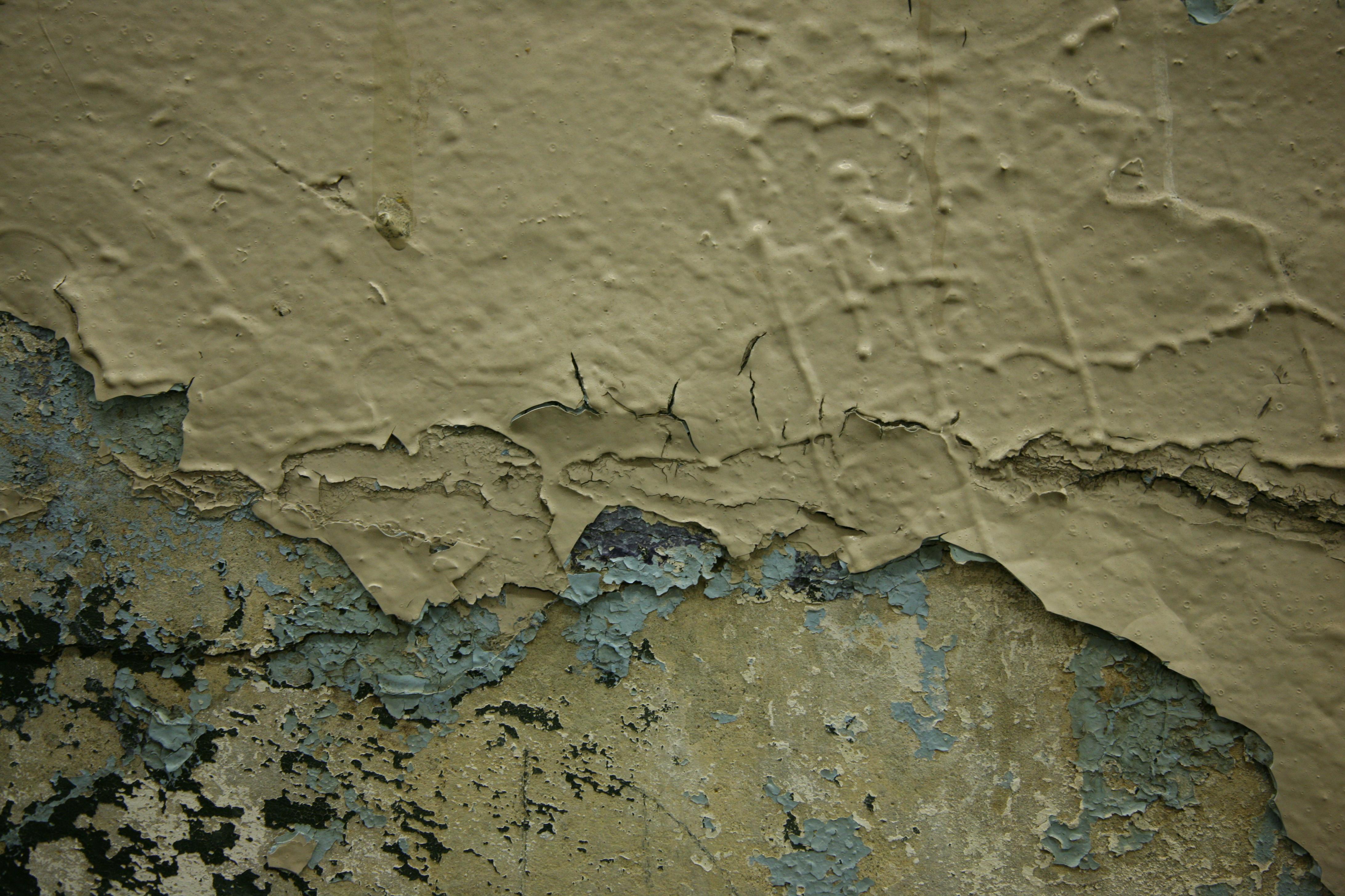 Paint peeling in