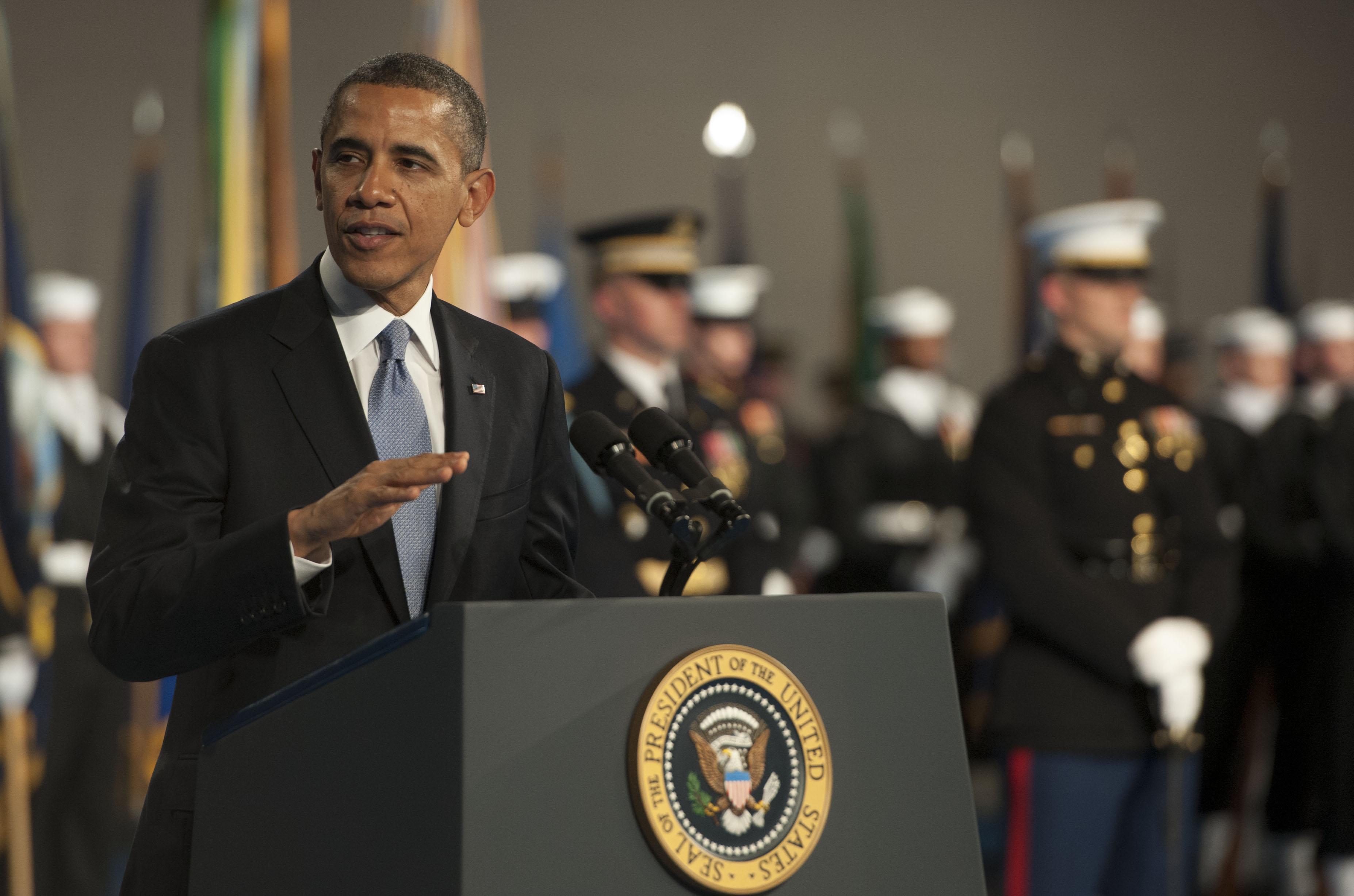File:President Barack Obama, speaks during the armed ...