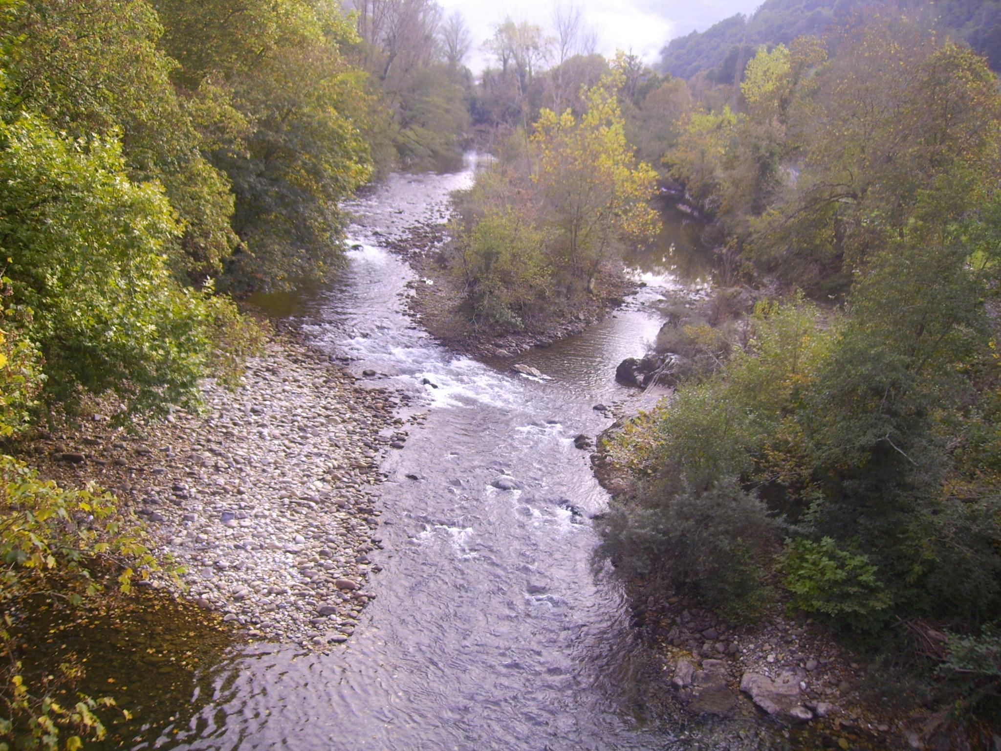 """""""Río Sella"""" por Pelayo Alonso Huerta - Trabajo propio. Disponible bajo la licencia CC BY-SA 3.0 vía Wikimedia Commons."""