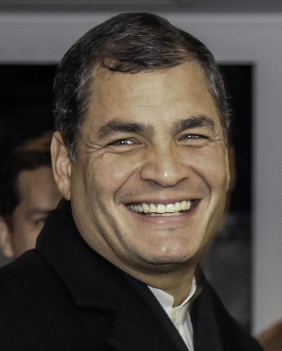 Depiction of Rafael Correa