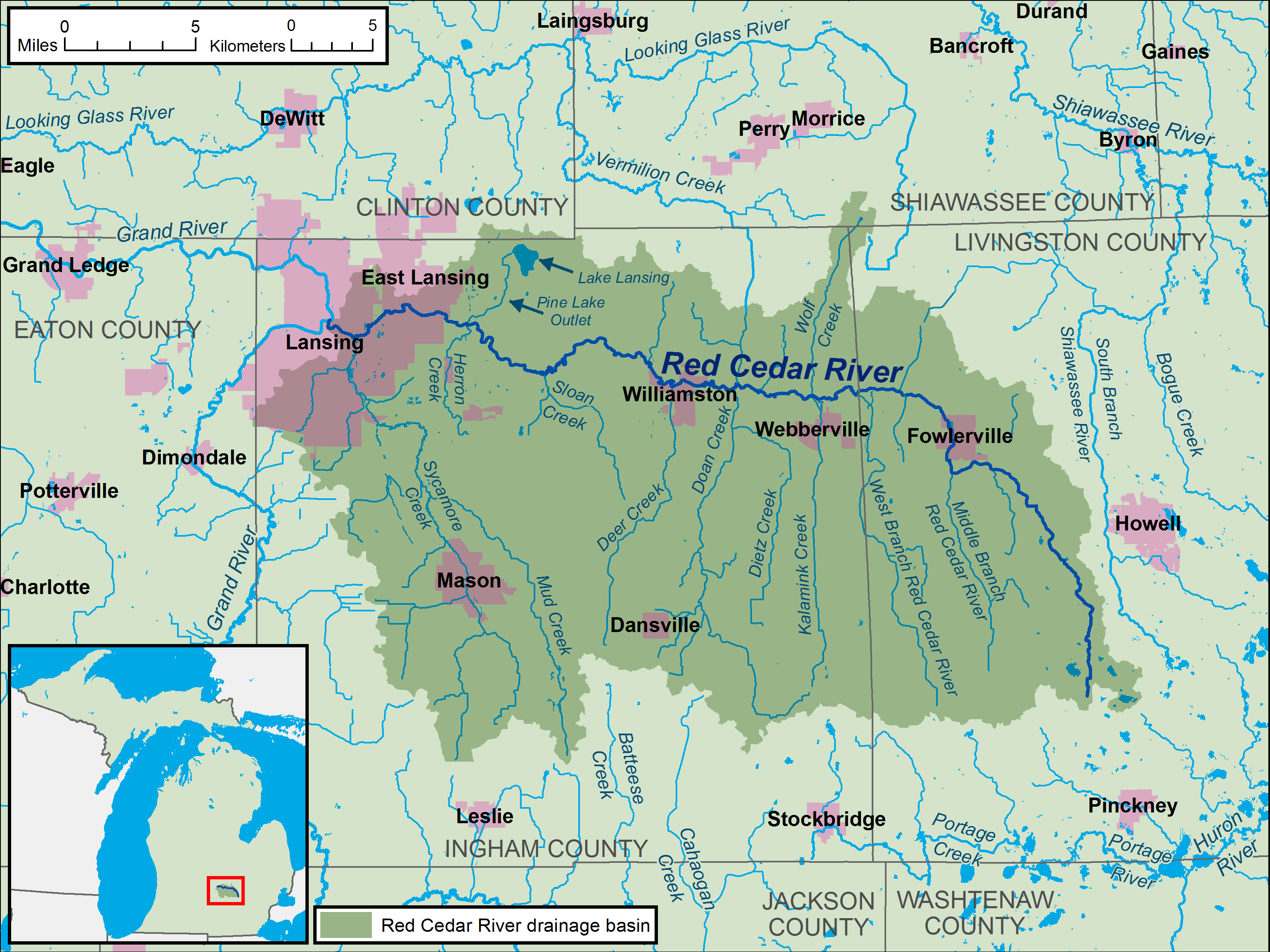 File:Red Cedar River Michigan map.png - Wikimedia Commons