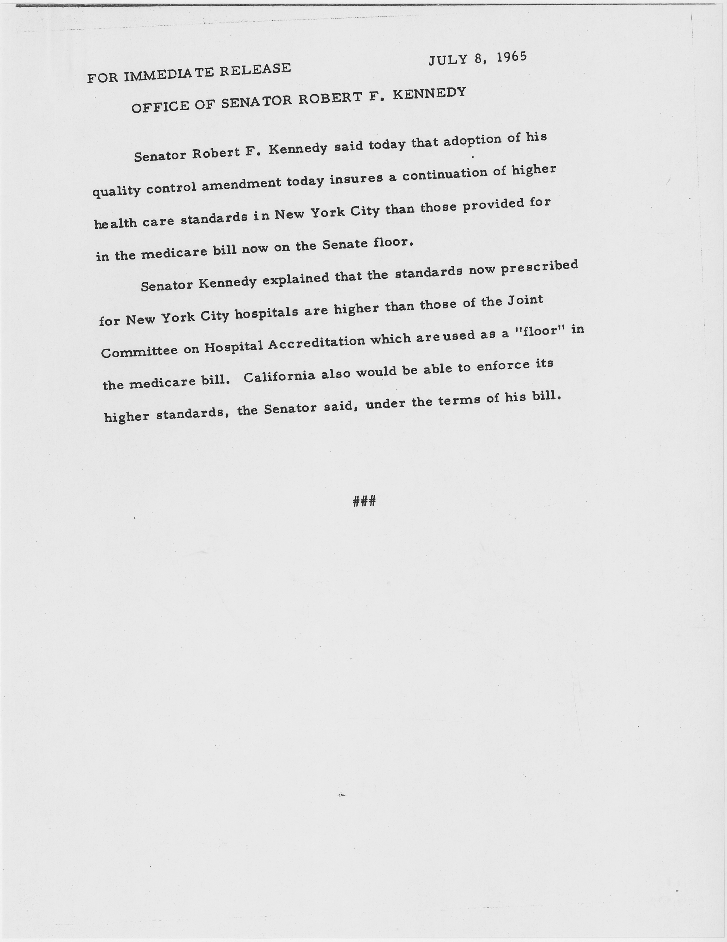 an analysis of the statement of robert kennedy Full text and audio mp3 of robert f kennedy statement on martin luther king's death.