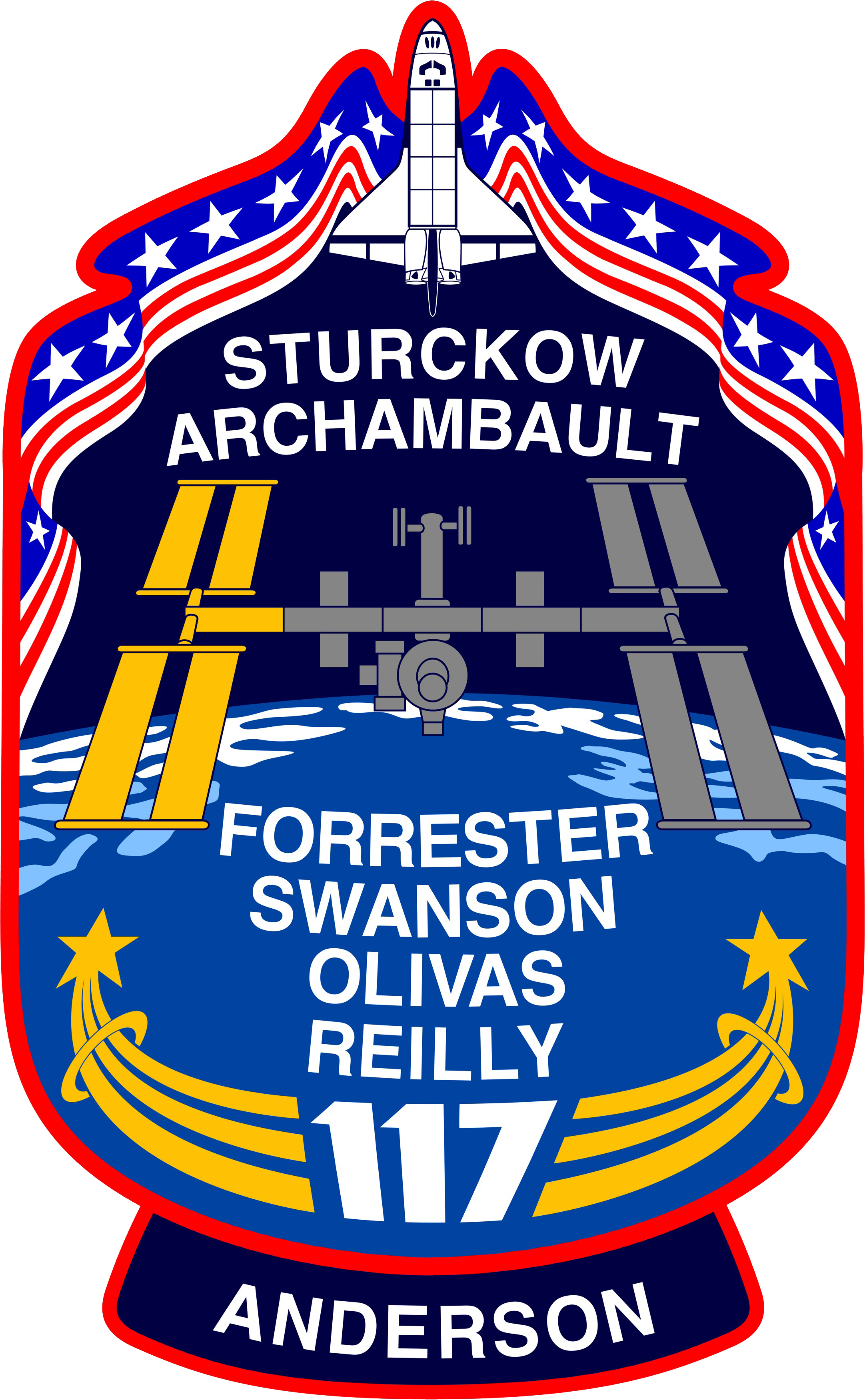 Animation assemblage ISS STS-117_patch_new