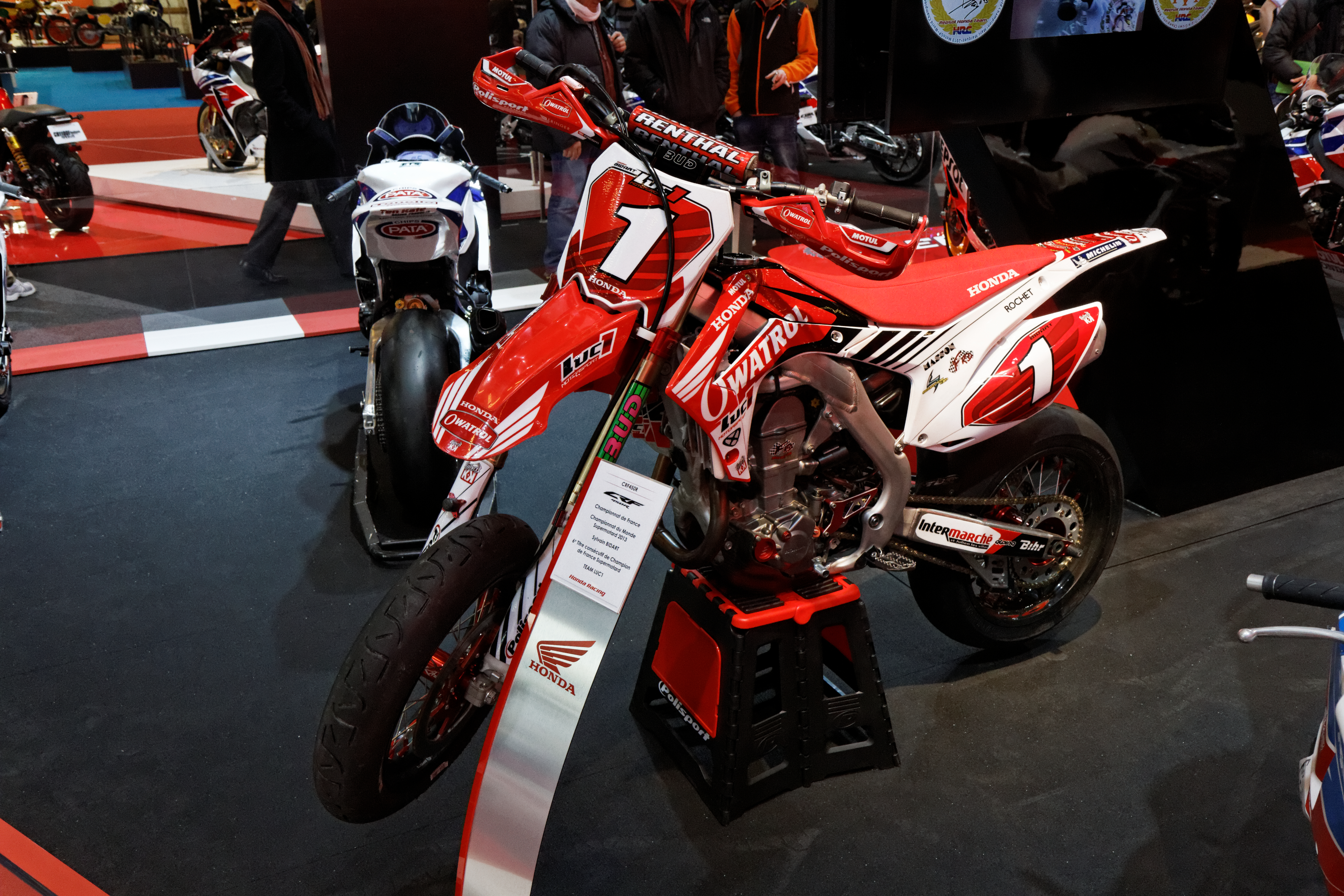 Filesalon De La Moto Et Du Scooter De Paris 2013 Honda Crf 450r