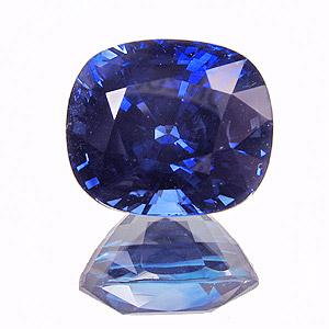 Sapphire, cushion cut, 9.27cts