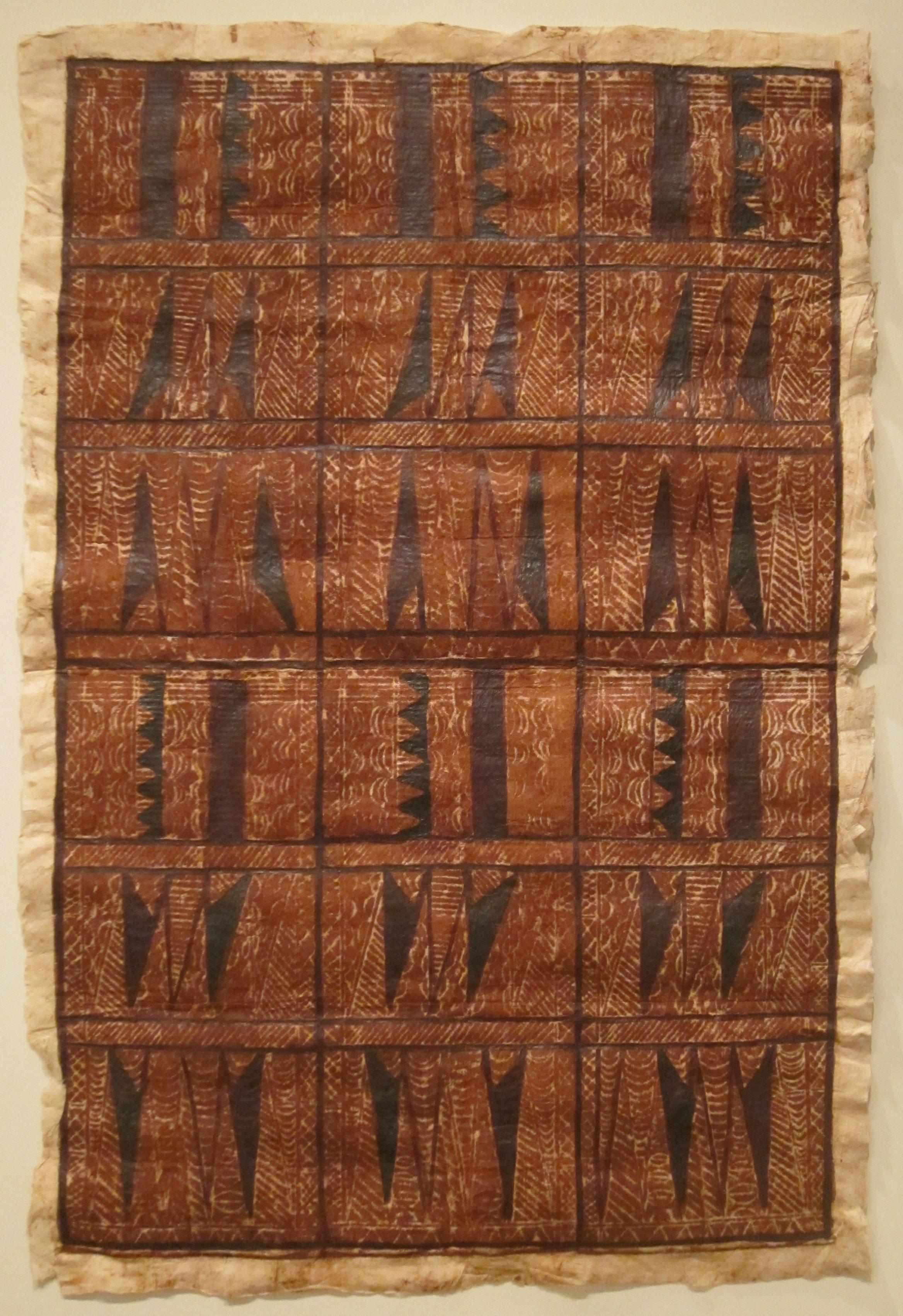 File:Siapo 'elei (bark cloth) from Samoa, 20th century ...