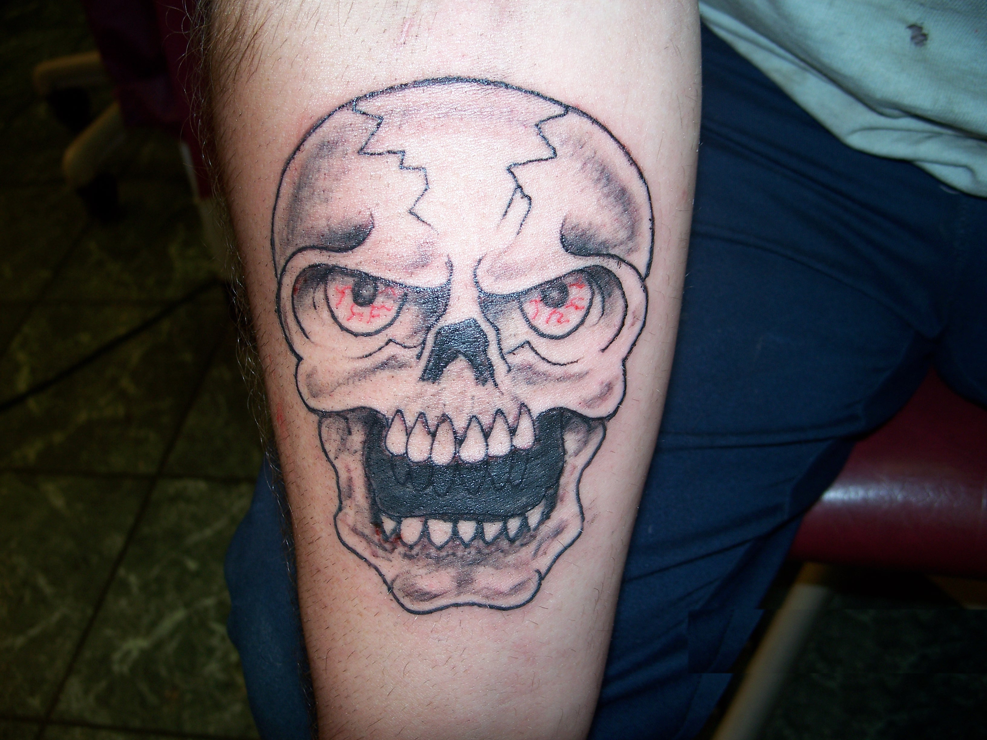 Descrição skull tattoo cover up by keith killingsworth jpg