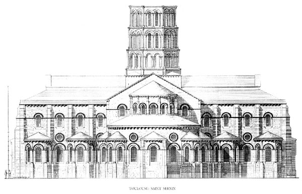 Basilica of saint sernin for W architecture toulouse