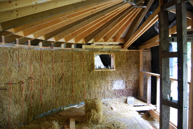 File Straw Bale House Cat Geograph Org Uk 1521510 Jpg