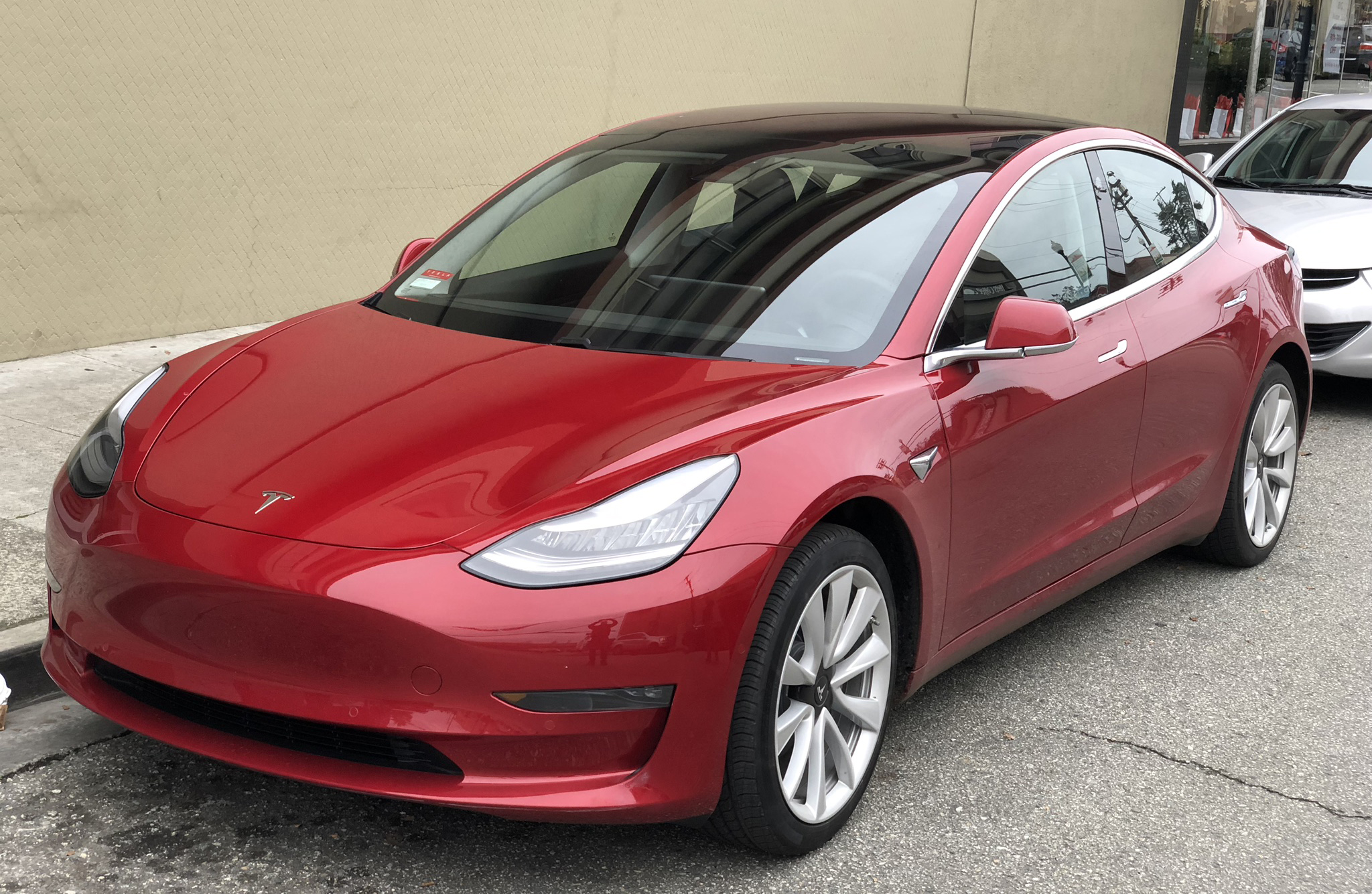 ファイル tesla model 3 parked front driver side jpg wikipedia