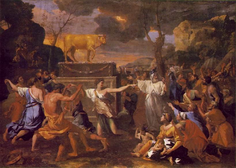 Imagenes de la Biblia The_adoration_of_the_golden_calf_1633-36