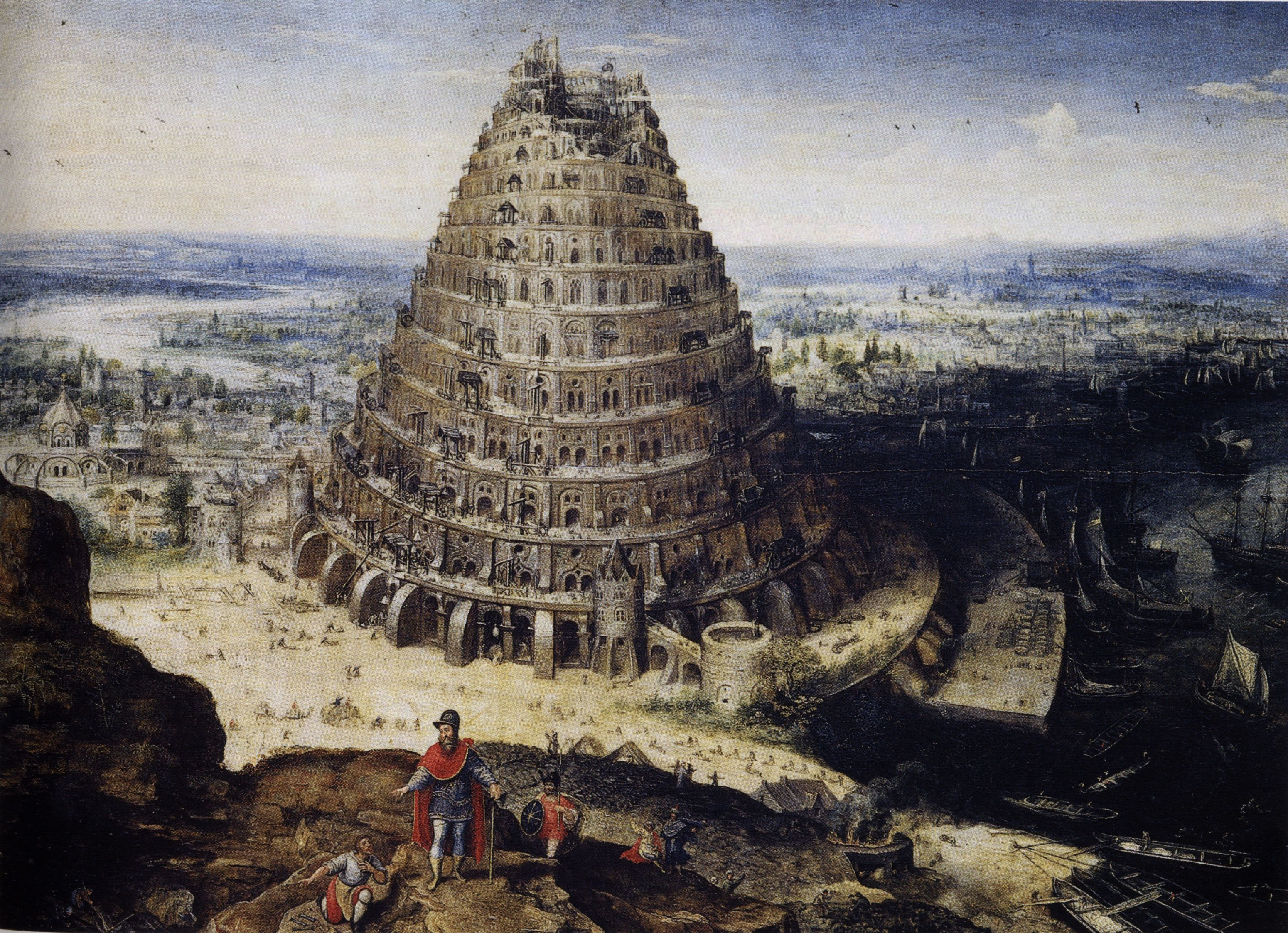 This is an image of a painting of the Tower of Babel