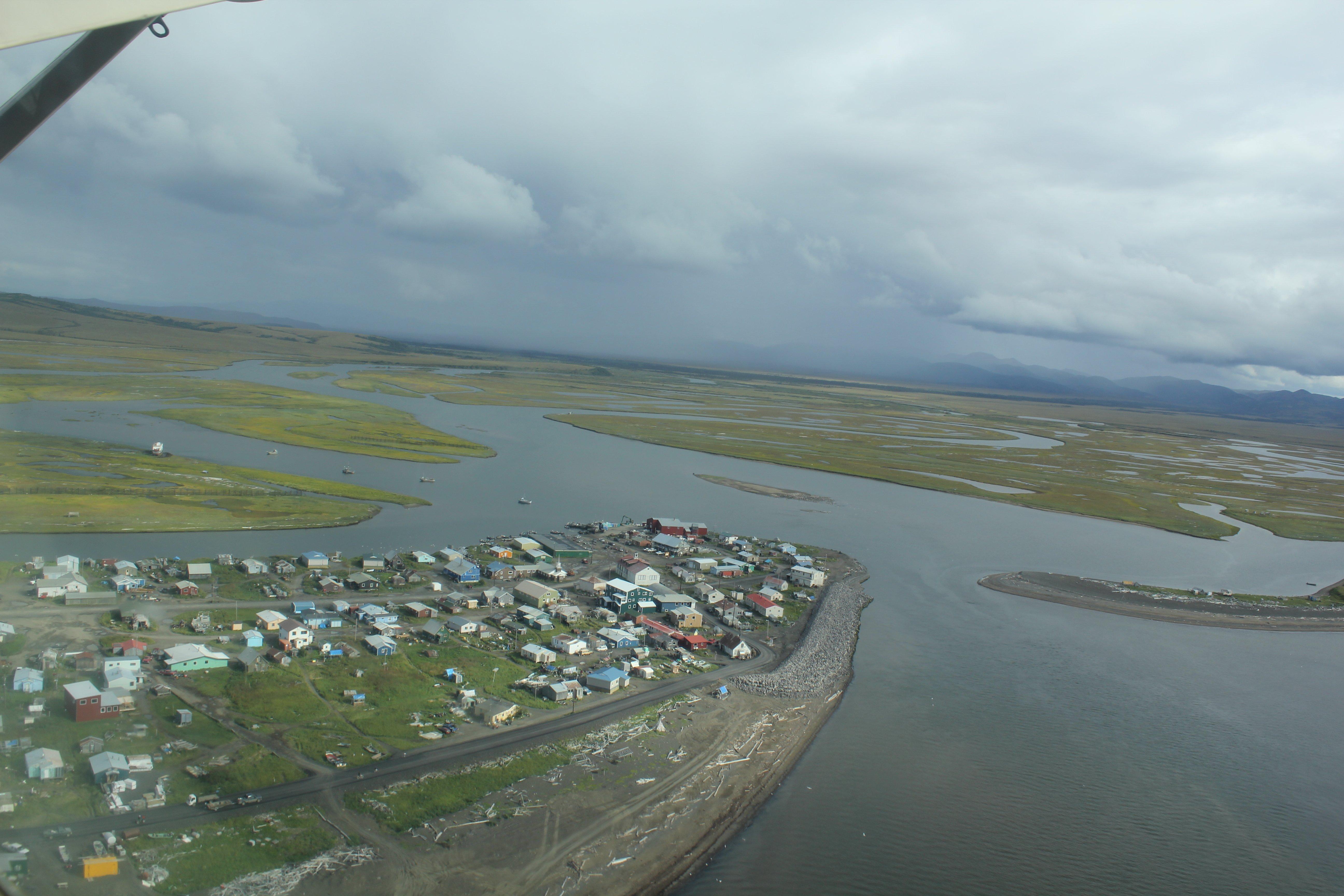 Aerial view of Unalakleet,unalakleet city