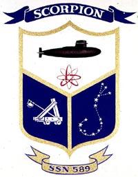 Uss scorpion SSN589 insigni