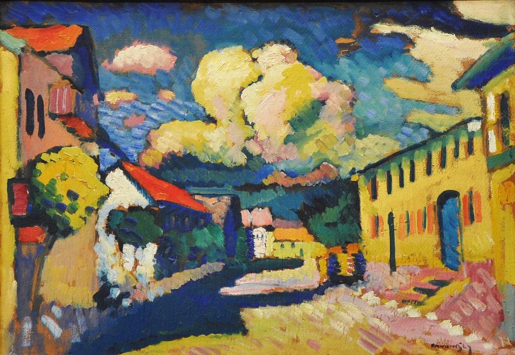 murnau dorfstrae 1908 - Wassily Kandinsky Lebenslauf