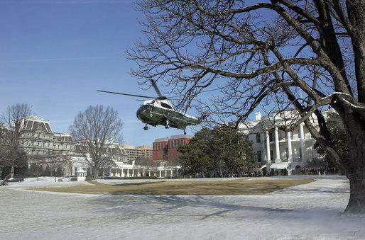 File White House And Marine One In Winter Jpg Wikimedia