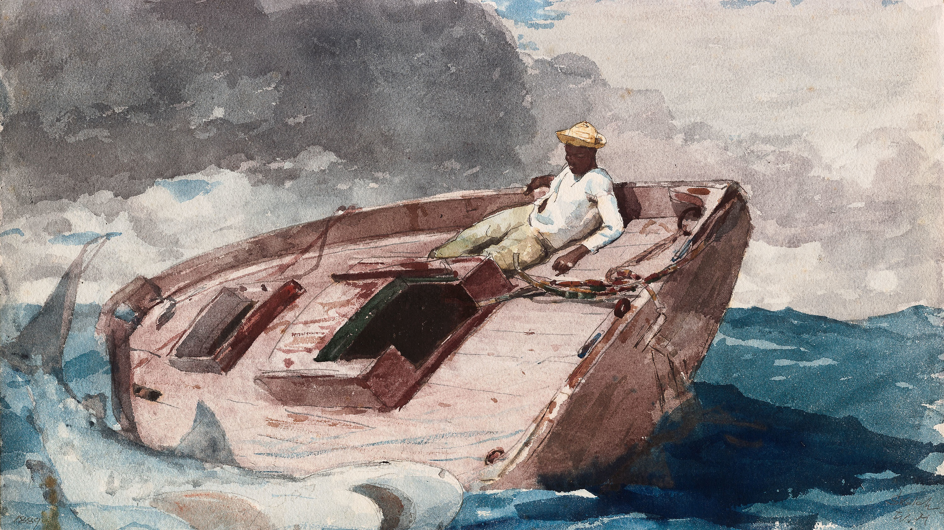 file winslow homer the gulf stream watercolour jpg wikimedia commons. Black Bedroom Furniture Sets. Home Design Ideas