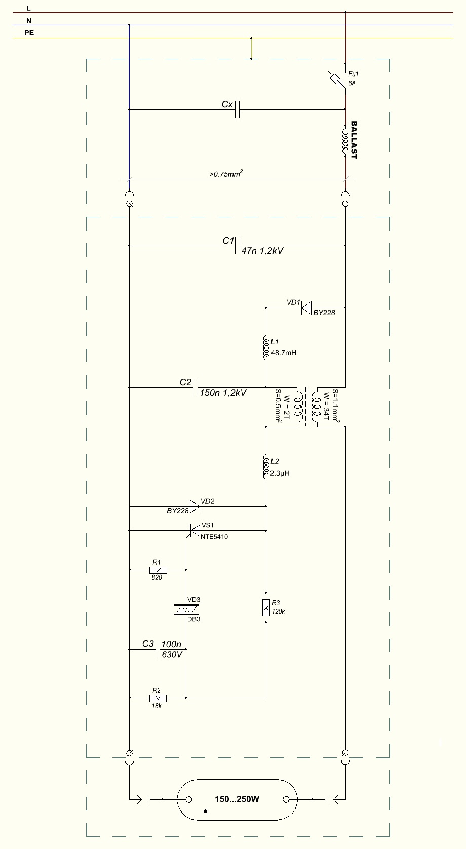 Filewiring Diagram Of Sodium Vapor Discharge Lamp Ignitor Wiring A
