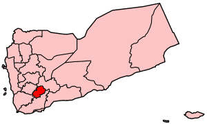 Map of Yemen showi Ad Dali' governorate.