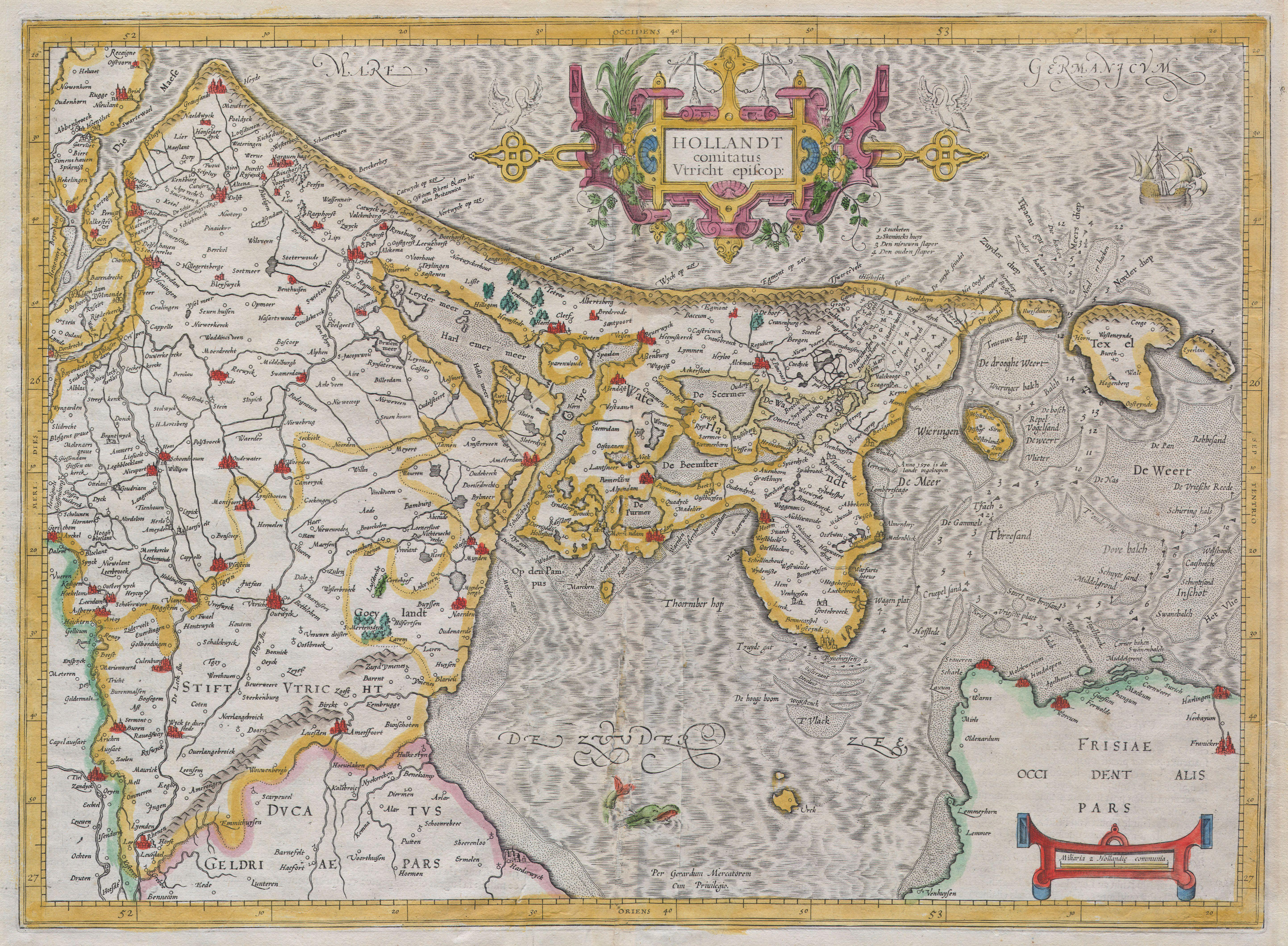 File1606 Mercator Map of Holland  Netherlands   Geographicus