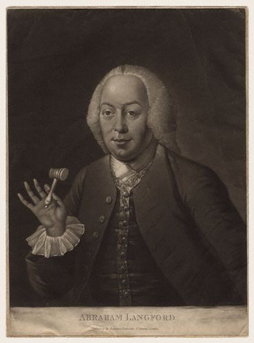 Abraham Langford, 18th century mezzotint.
